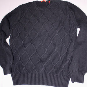 VINTAGE Izod Oversized Navy Cotton Sweater